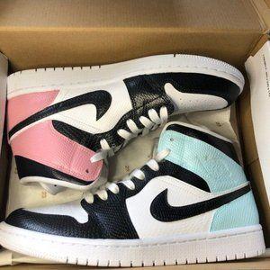 Nike Custom Air Jordan 1 Blue and Pink